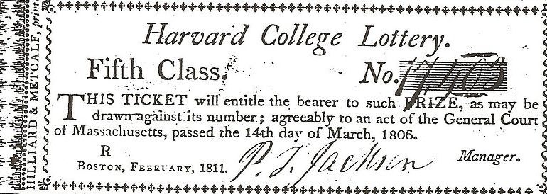 Harvard Lottery 1811