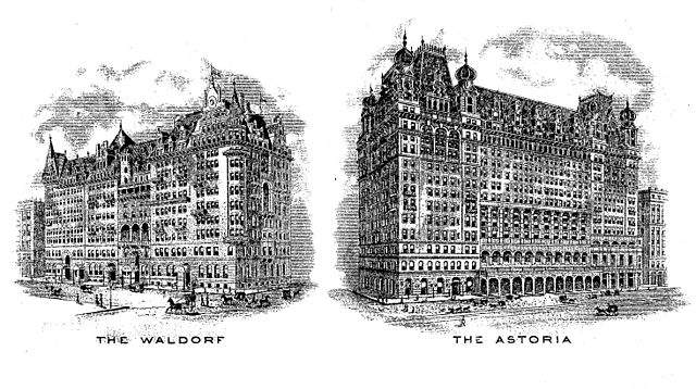 There were 2 hotels- Waldorf and Astoria in place of the Empire State Building