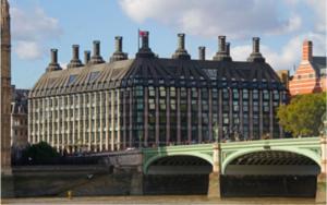 Portcullis House, Westminster, Big Ben, London Eye, London