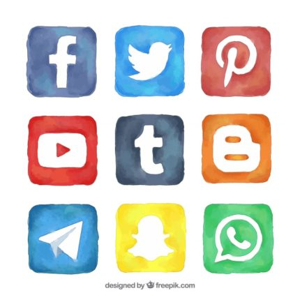 Flat Social Media Icon Vector Pack  Vecteezy