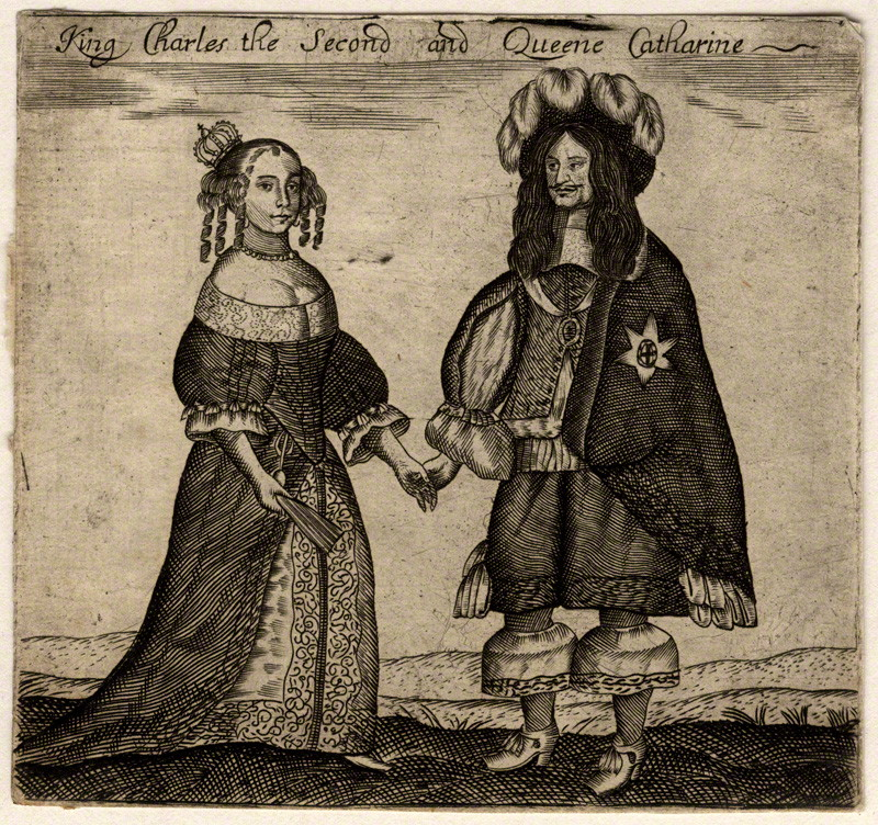 Charles II and his wife Catherine of Braganza