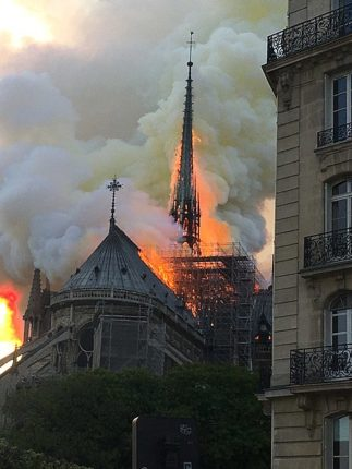 Fire at Notre Dame, 2019